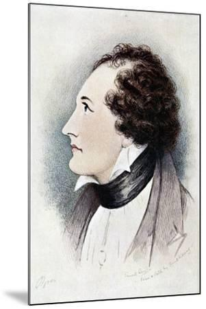 Lord Byron, Anglo-Scottish Poet, Early 19th Century-Ernest Lloyd-Mounted Giclee Print