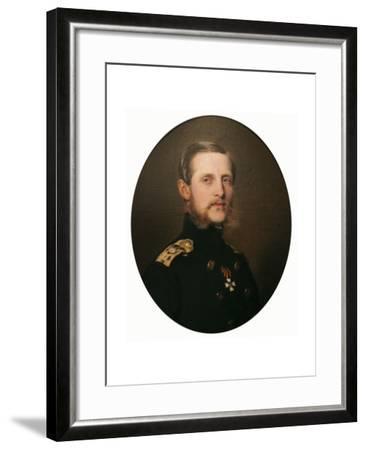 Portrait of the Grand Duke Konstantin Nikolaevich, 1859-Franz Xaver Winterhalter-Framed Giclee Print