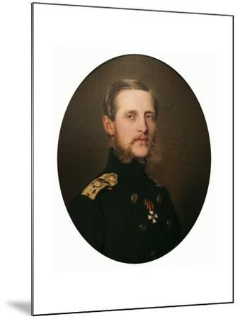 Portrait of the Grand Duke Konstantin Nikolaevich, 1859-Franz Xaver Winterhalter-Mounted Giclee Print
