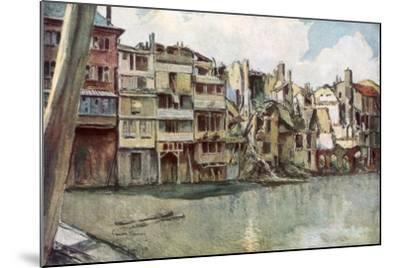 The Meuse River, Verdun, France, June 1916-Francois Flameng-Mounted Giclee Print