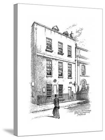 Sir Isaac Newton's House, St Martins Street, London, 1912-Frederick Adcock-Stretched Canvas Print