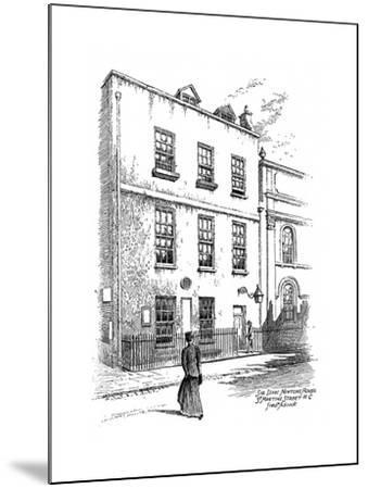 Sir Isaac Newton's House, St Martins Street, London, 1912-Frederick Adcock-Mounted Giclee Print