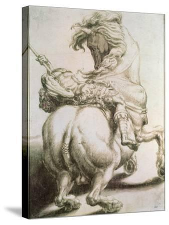 Rider Pierced by a Spear, 16th Century-Francesco Salviati-Stretched Canvas Print