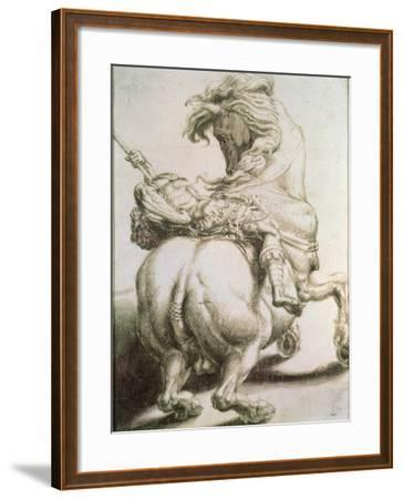 Rider Pierced by a Spear, 16th Century-Francesco Salviati-Framed Giclee Print