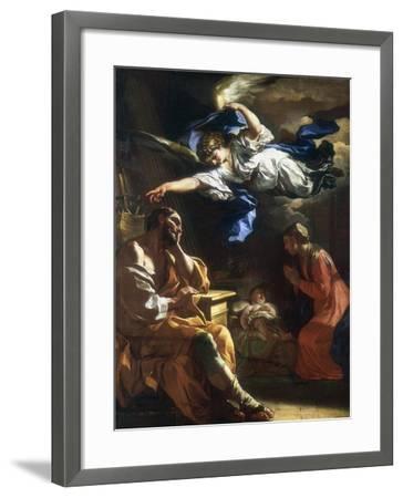 St Joseph's Dream, C1677-1747-Francesco Solimena-Framed Giclee Print