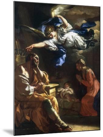St Joseph's Dream, C1677-1747-Francesco Solimena-Mounted Giclee Print