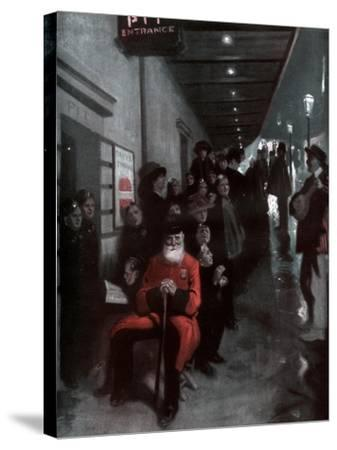 The Queue, the Pensioner and the Dollar Princess, 1910-Fred Leist-Stretched Canvas Print