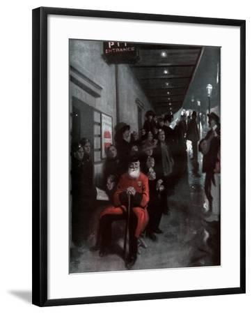 The Queue, the Pensioner and the Dollar Princess, 1910-Fred Leist-Framed Giclee Print