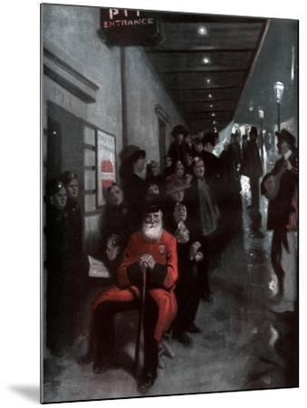 The Queue, the Pensioner and the Dollar Princess, 1910-Fred Leist-Mounted Giclee Print