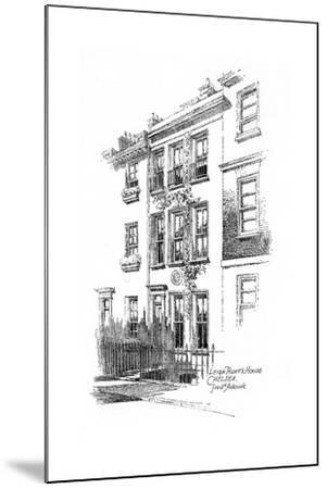 Leigh Hunt's House, Chelsea, London, 1912-Frederick Adcock-Mounted Giclee Print