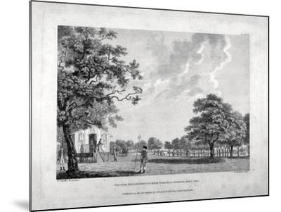 Army Camp in Hyde Park, London, 1780-Francis Chesham-Mounted Giclee Print