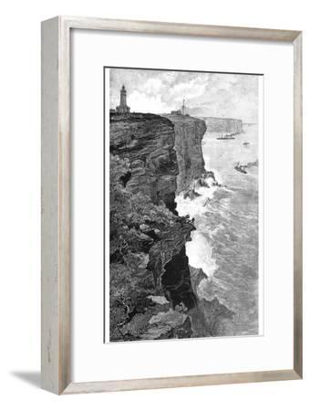 Sydney Heads from the South, New South Wales, Australia, 1886-Frederic B Schell-Framed Giclee Print