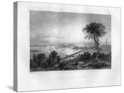 Boston and Bunker Hill, Massachusetts, 1855-FO Freeman-Stretched Canvas Print