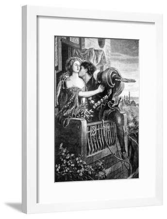 Scene from Shakespeare's Romeo and Juliet, C1860S-Ford Madox Brown-Framed Giclee Print
