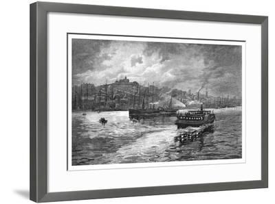 Night Scene, Darling Harbour, Sydney, New South Wales, Australia, 1886-Frederic B Schell-Framed Giclee Print
