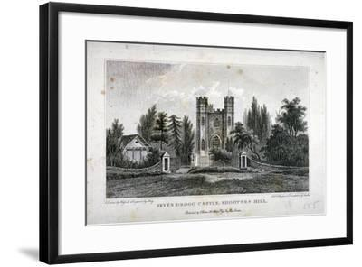 Severndroog Castle, Shooter's Hill, Woolwich, Kent, 1808-FR Hay-Framed Giclee Print