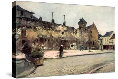 The Barracks at Soissons, France, 1915-Francois Flameng-Stretched Canvas Print