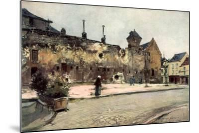 The Barracks at Soissons, France, 1915-Francois Flameng-Mounted Giclee Print