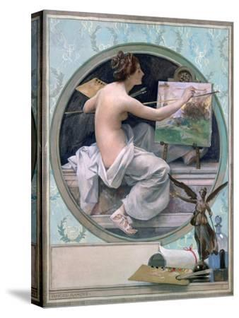 Allegory, 1856-1923-Francois Flameng-Stretched Canvas Print