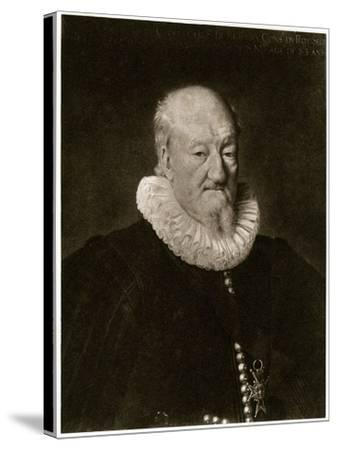 Portrait of Martin Ruzé De Beaulieu-Frans Porbus-Stretched Canvas Print