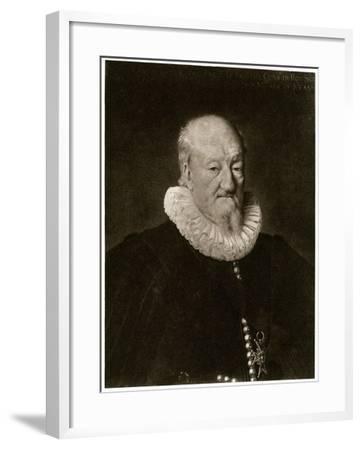 Portrait of Martin Ruzé De Beaulieu-Frans Porbus-Framed Giclee Print