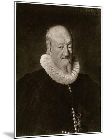 Portrait of Martin Ruzé De Beaulieu-Frans Porbus-Mounted Giclee Print