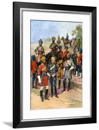 The King's Own Regiments of the Indian Army-Frederic De Haenen-Framed Giclee Print