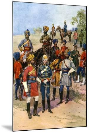 The King's Own Regiments of the Indian Army-Frederic De Haenen-Mounted Giclee Print