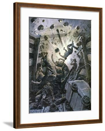 A Firedamp Explosion, France, 1892-F Meaulle-Framed Giclee Print