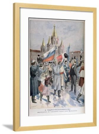 Enrolment of Russian Volunteers for Madagascar, St Petersburg, 1895-F Meaulle-Framed Giclee Print