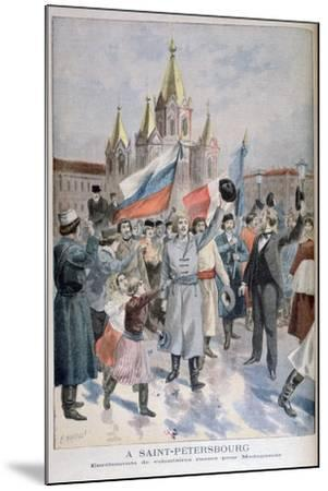 Enrolment of Russian Volunteers for Madagascar, St Petersburg, 1895-F Meaulle-Mounted Giclee Print