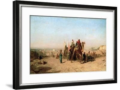 Caravan, 1860-Felix Francois Georges Philibert Ziem-Framed Giclee Print