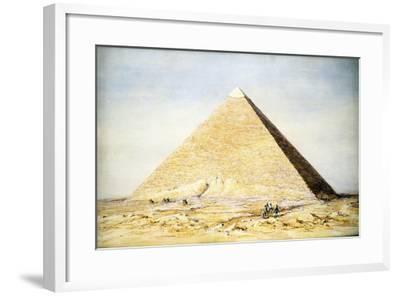 Great Pyramid of Cheops at Giza, Egypt, 4th Dynasty, Old Kingdom, 26th Century BC-Francis Vyvyan Jago Arundale-Framed Giclee Print