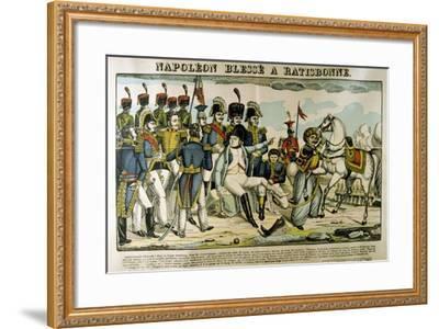 Napoleon Injured at Ratisbon, April 1809-Francois Georgin-Framed Giclee Print