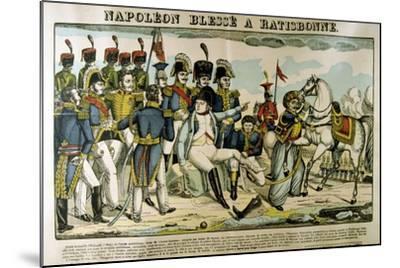 Napoleon Injured at Ratisbon, April 1809-Francois Georgin-Mounted Giclee Print