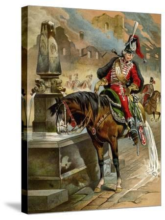 Book Illustration, 1896-Franz Gottfried-Stretched Canvas Print