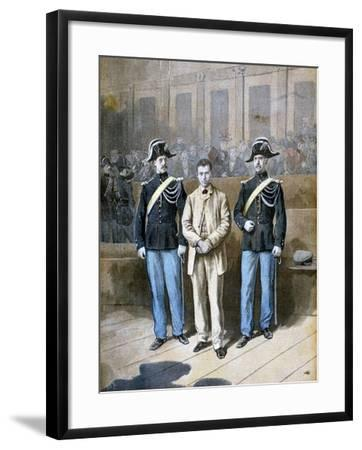 Trial of Sante Jeronimo Caserio, Italian Anarchist and Assassin, 1894-Frederic Lix-Framed Giclee Print