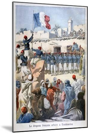 The Raising of the French Flag at Timbuktu, 1894-Frederic Lix-Mounted Giclee Print