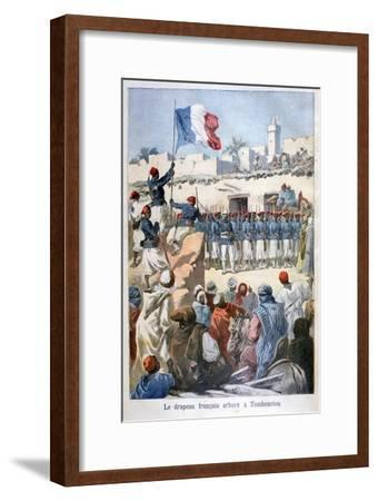 The Raising of the French Flag at Timbuktu, 1894-Frederic Lix-Framed Giclee Print