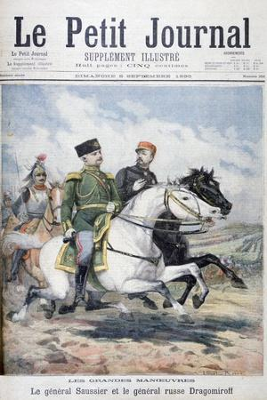 French General Saussier and Russian General Dragomirov, 1895-F Meaulle-Framed Giclee Print