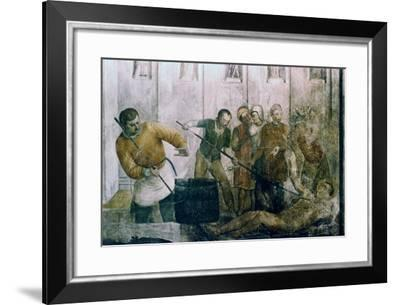 Martyrdom of St Laurence, Mid 15th Century-Fra Angelico-Framed Giclee Print