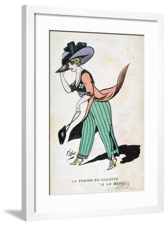 The Woman in Breeches, 20th Century-Francois Lafon-Framed Giclee Print