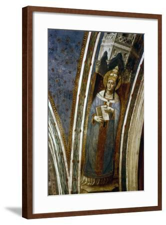 St Gregory, Mid 15th Century-Fra Angelico-Framed Giclee Print