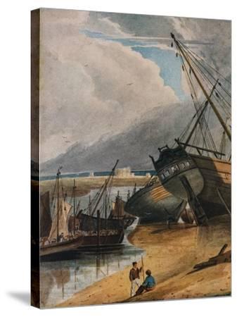 Shipping at Deal, 1925-Francois Louis Thomas Francia-Stretched Canvas Print