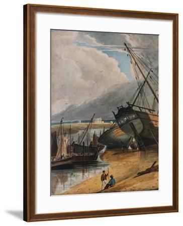 Shipping at Deal, 1925-Francois Louis Thomas Francia-Framed Giclee Print