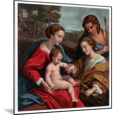 The Mystic Marriage of St Catherine, 1526-1527-Franz Kellerhoven-Mounted Giclee Print
