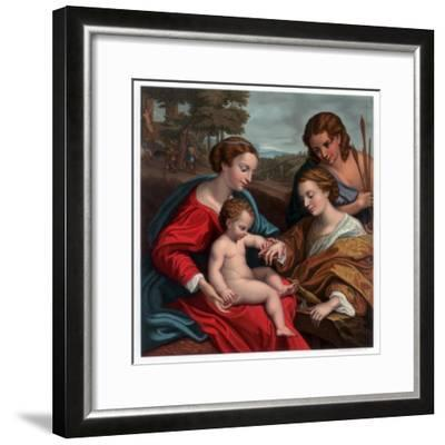 The Mystic Marriage of St Catherine, 1526-1527-Franz Kellerhoven-Framed Giclee Print