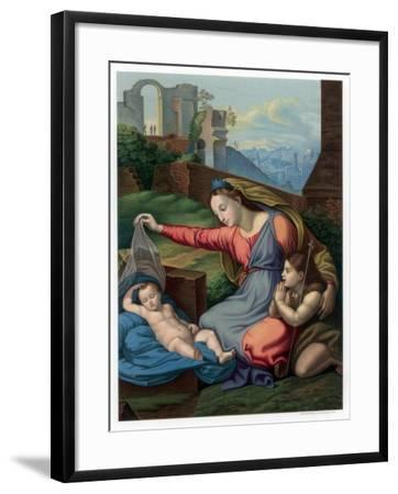 Madonna of the Blue Diadem, 1510-1511-Franz Kellerhoven-Framed Giclee Print