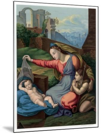 Madonna of the Blue Diadem, 1510-1511-Franz Kellerhoven-Mounted Giclee Print