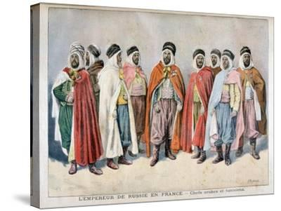 Arab and Tunisian Chiefs, 1896-Frederic Lix-Stretched Canvas Print